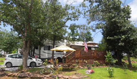 Make your RV a Lake Cabin at Meadow Park